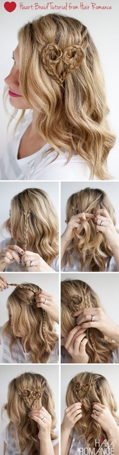 Valentines Hair Heart Braid Tutorial from Hair Romance 269x1024 15 Curly Hairstyle Tutorials