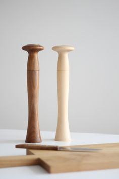wood pepper mills - Peter Zumthor for Alessi