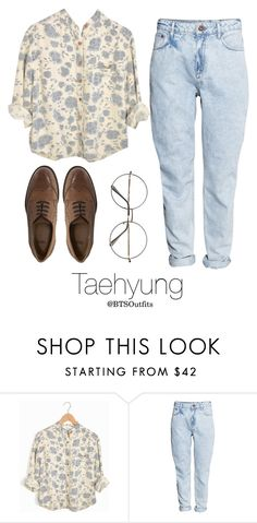 """""""Picking Fruit with Taehyung"""" by btsoutfits ❤ liked on Polyvore featuring H&M, Retrò and ASOS"""