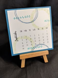Playing with Shapes Calendar Ideas, Calendar Pages, Desk Calendars, Happy September, All Natural Skin Care, Sparklers, Stampin Up, Joy, Shapes
