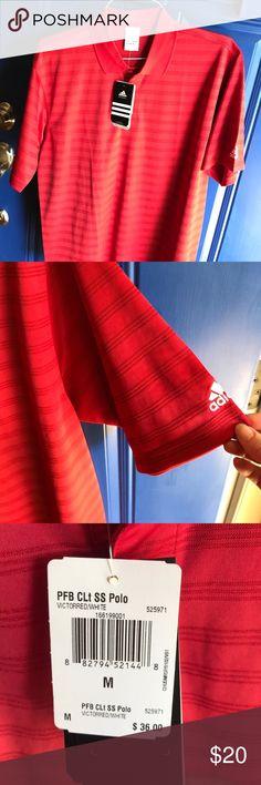 Adidas Performance polo NWT NWT Adidas red performance polo adidas Shirts Polos