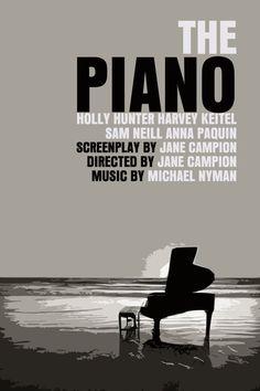 The Piano Movie Poster Paper or Plexiglas or por FunnyFaceArt, $15,00