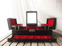 Vintage Black and Red 1950s Mele 'Treasure Chest' by LaRouxVintage, $28.00