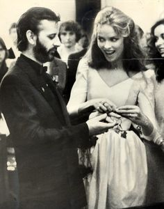 Actress and model Barbara Bach played Bond girl Anya Amasova in The Spy Who Loved Me four years later she was the wife of Ringo Starr, former drummer of the legendary rock group the Beatles. Ringo Starr, Celebrity Wedding Photos, Celebrity Weddings, Spy Girl, Richard Starkey, Spy Who Loved Me, Rock Groups, Look Younger, Paul Mccartney