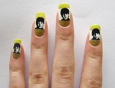 neat musical nails...The Beatles
