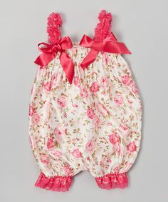 Look what I found on #zulily! Pink Flower Romper - Infant by Z Kids #zulilyfinds