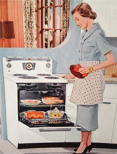 🌟Tante S!fr@ loves this📌🌟Mom & her new General Electric oven.holds TWICE the meat that the last one did.and even cooks it well enough to kill the bacteria!