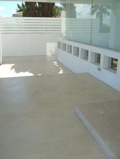 Microcemento   Aplicación en terraza