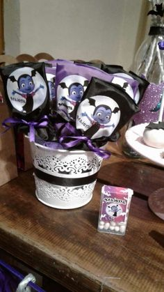 Anabel G's Birthday / Vampirina - Photo Gallery at Catch My Party Halloween 1st Birthdays, Halloween Birthday, 4th Birthday Parties, Birthday Party Decorations, First Birthdays, Birthday Ideas, Disney Birthday, Third Birthday, Bday Girl