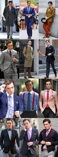 Gossip Girl.  No one rocks snug, burnt orange trousers, with a mustard colored blazer like Chuck Bass.