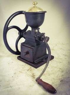 Antique PEUGEOT FRERES C1 Coffee Grinder Mill Cast-Iron Moulin Cafe