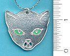 """Амулет Деньги Cat подвеска $ 7.25  привлечения денег & богатства с этой зелеными глазами котенка! Приблизительно. 1 ½ """"х 1 3/8"""""""