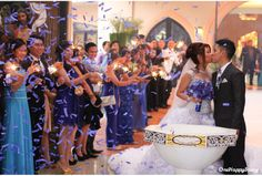 even the confetti matched the motiff :)  IAN and RIA Wedding Photography Cagayan de Oro City