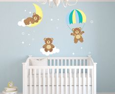 Teddy Bears Theme Wall Decal - Bear Room Decor - Nursery Room Wall Decal - Bear Wall Decal Vinyl