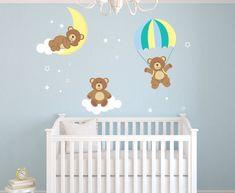 Teddy Bears Theme Wall Decal - Bear Room Decor - Nursery Room Wall Decal - Bear Wall Decal Vinyl