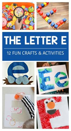 12 Letter E Activities
