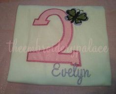 Custom applique birthday t shirt boys or by TheEmbroideryPalace, $22.00