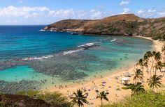 Hanauma Bay, Oahu, Hawaii, I went snorkeling here. Very beautiful!