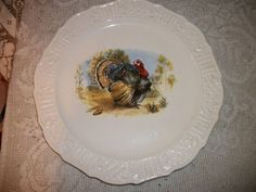 vintage cannonsburg usa pottery ironstone turkey by VintageArray, $29.99