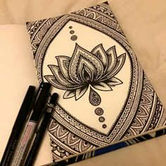 Pin by charley wyatt on art dibujos con mandalas, mandalas, arte zentangle. Mandala Art, Mandalas Drawing, Mandala Doodle, Lotus Mandala, Lotus Henna, Lotus Art, Doodle Drawings, Doodle Art, Sharpie Drawings