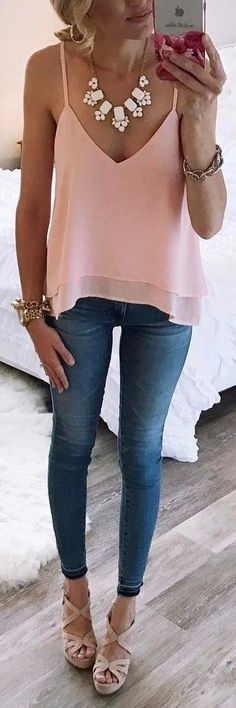 blush top this spring #dressescasualspring