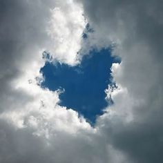 A beautiful sky blue Heart surrounded by white fluffy clouds. Fluffy white clouds are my favorite! Heart In Nature, All Nature, I Love Heart, God's Heart, Heart Pics, Humble Heart, Angel Heart, Heart Pictures, Heart Broken