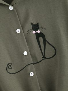 Модная рубашка с вышивкой
