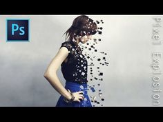 Pixel Explosion Effect | Photoshop Tutorial - YouTube ~ ok a really cute tricks using basic skills, and dual .. duelling even layer masks
