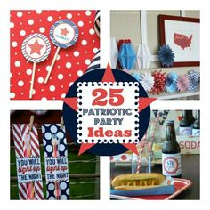 Light Up the Night: 25 Patriotic Party Printables and Ideask Patriotic Crafts, Patriotic Party, Patriotic Decorations, July Crafts, Holiday Crafts, Holiday Fun, Holiday Ideas, 4th Of July Celebration, 4th Of July Party