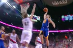One night after dropping a career-high 41 points on the Los Angeles Lakers, Golden State Warriors guard  Klay Thompson  dropped the hammer on Portland Trail Blazers big man Robin Lopez...