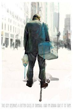 "The Joker from ""The Dark Knight"" (Heath Ledger) Le Joker Batman, Heath Ledger Joker, Joker Art, Joker And Harley Quinn, Gotham Batman, Batman Art, Batman Robin, Deadpool Movie, Marvel Movie Posters"