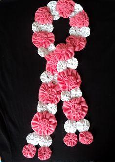 yo yo scarf.  I like the various sizes and arrangement.