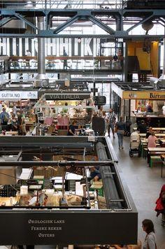Mathallen, het food court van Oslo