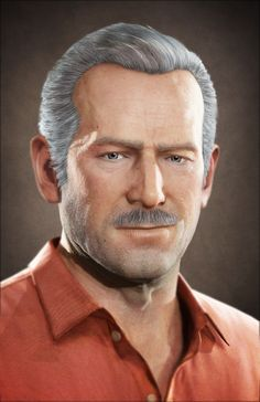 Uncharted 3 Portrait Victor Sullivan my second most favorite character in the series