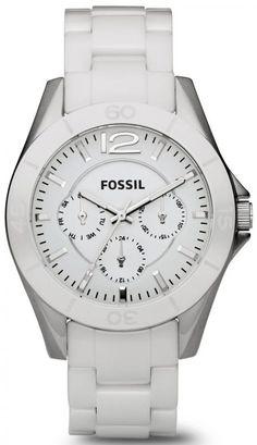 Fossil CE1002 Riley Multifunction Ladies Ceramic Watch