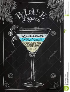 Blue Lagoon Cocktail Chalk - Download From Over 63 Million High Quality Stock Photos, Images, Vectors. Sign up for FREE today. Image: 50266145