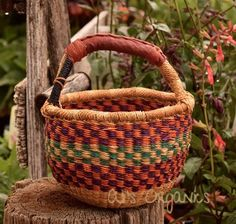 These market and harvest baskets are great for harvesting crops, taking to markets to save on plastic bags, storing projects and more. Handle has leather for lasting durability. Weavers in the Bolgata