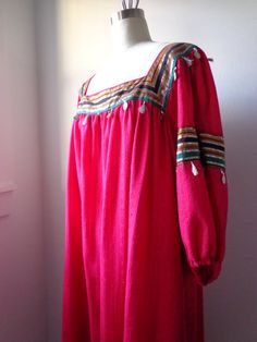 Vintage Dress 1970's Boho Ethnic by Ramona Rull by EadoVintage, $42.50