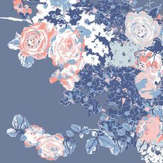 KNIT fabric Sale  Art Gallery Fabric blue , pink and white floral Bloesem Sweetfrom In Blue collection floral fabric  summer floral fabric by hophopstudio on Etsy https://www.etsy.com/listing/551464807/knit-fabric-sale-art-gallery-fabric-blue