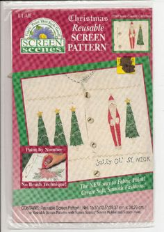 Santa Country Country Christmas Reusable Screen Pattern New Sealed