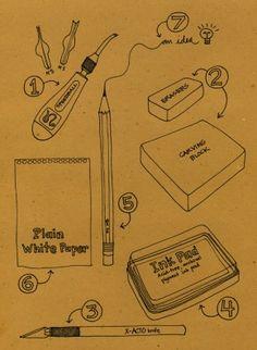 tutorial om stempels te maken! van blogdelanine....