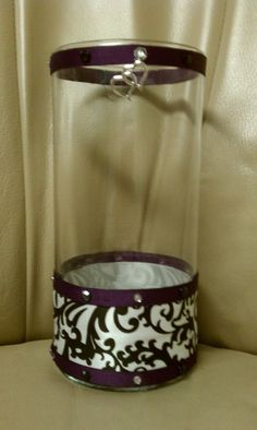 DIY Purple Wedding Centerpieces   My DIY centerpiece : wedding black centerpiece diy purple vovtive ...