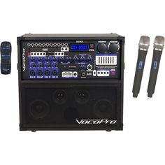 VocoPro - 120W 4-Channel Multi-Format Portable PA System - Black