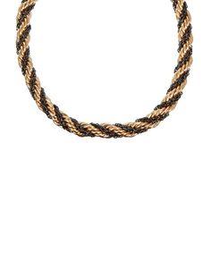 Halskette von ASOS Collection - dicke, doppelte Kette mit verdrehtem Design - goldene und silberne Oberfläche - mit Karabinerverschuss