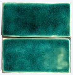 Gorgeous turquoise crackle glazed tiles from Terra Home.