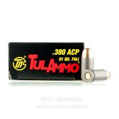 TulAmmo 380 ACP Ammo - 1000 Rounds of 91 Grain FMJ Ammunition #Tula #TulAmmo #380AutoAmmo #380ACP #FMJ