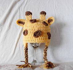 Crochet Giraffe Hat by TheYarnFool
