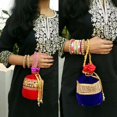 Designer potli bags.. In love with them..  Got them for just 290/-inr