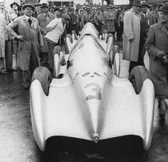 AVUS 1935 - Auto Union A Streamliner of Hermann zu Leiningen Auto Union, Ferdinand Porsche, Mercedes Car, Audi Sport, Vintage Racing, Motor Car, Grand Prix, Cars And Motorcycles, Vintage Photos