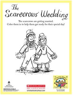 THE SCARECROWS' WEDDING Coloring Sheet. #coloring #coloringsheet #picturebooks #picturebook #read #reading #family #readaloud #children #kids #childrensboooks #story #storytime #bedtime #book #books #storyhour #storycorner #activity The Scarecrows Wedding, Activity Ideas, Craft Ideas, Julia Donaldson Books, Scarecrow Crafts, Foundation Stage, The Gruffalo, Wedding Activities, Story Books